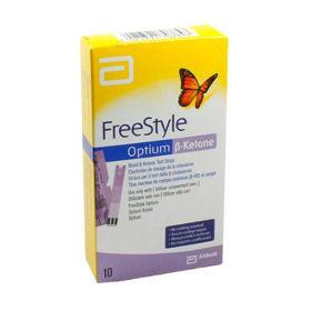 Slika FreeStyle Optium ketone lističi za ketone, 10 testnih lističev
