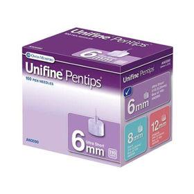 Slika Unifine Pentips 6 mm Ultra Soft igle za vbrizgavanje inzulina, 100 igel