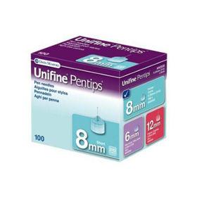 Slika Unifine Pentips Short 8 mm igle za vbrizgavanje inzulina, 100 igel