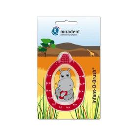 Slika Miradent 2v1 obroček za žvečenje in ščetka za dojenčka, 1 obroček