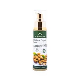 Slika AlpStories hladno stiskano olje sladkega mandlja, 50 mL