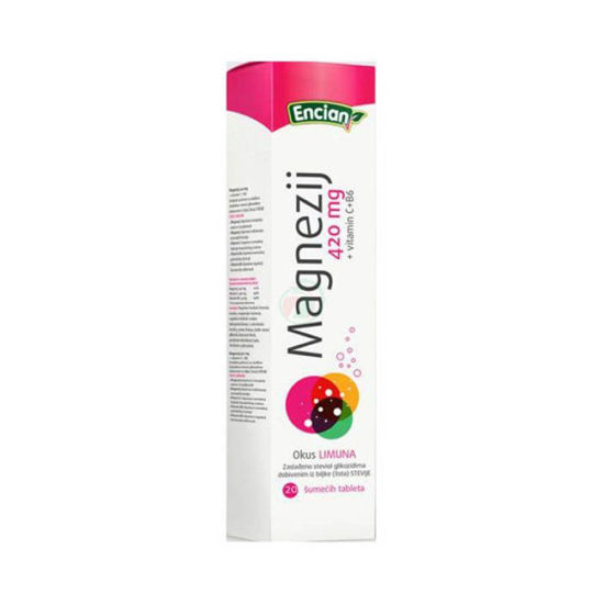 Magnezij 420 mg + vitamin C+B6, 20 šumečih tablet