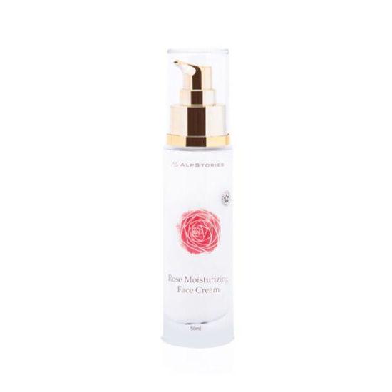 AlpStories vlažilna krema za obraz z vrtnico, 50 mL