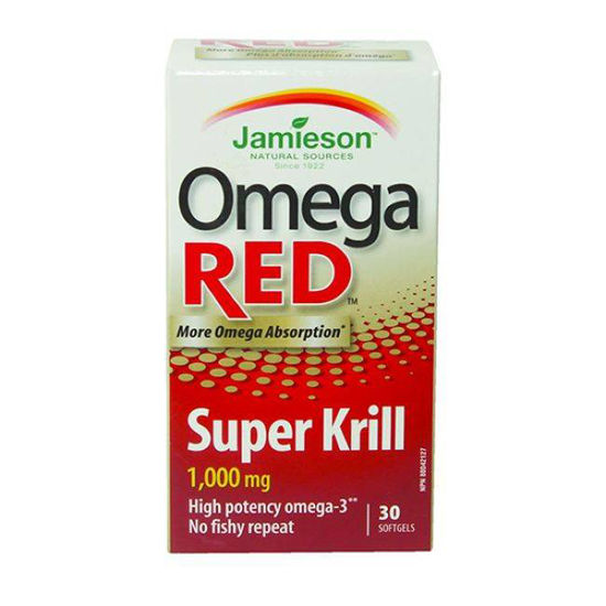 Jamieson OmegaRED Super krilovo olje, 30 kapsul