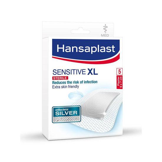 Hansaplast Sensitive Silver XL obliži s srebrom, 5 obližev