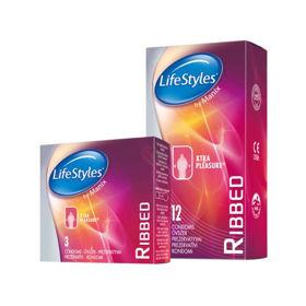 Slika LifeStyles Skyn Ribbed kondomi, 12 kondomov