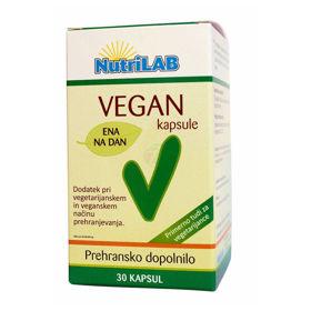 Slika Nutrilab Vegan dodatek vegetariancem, 30 kapsul