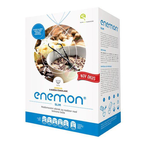 Enemon Slim vanilija s koščki čokolade, 300 g