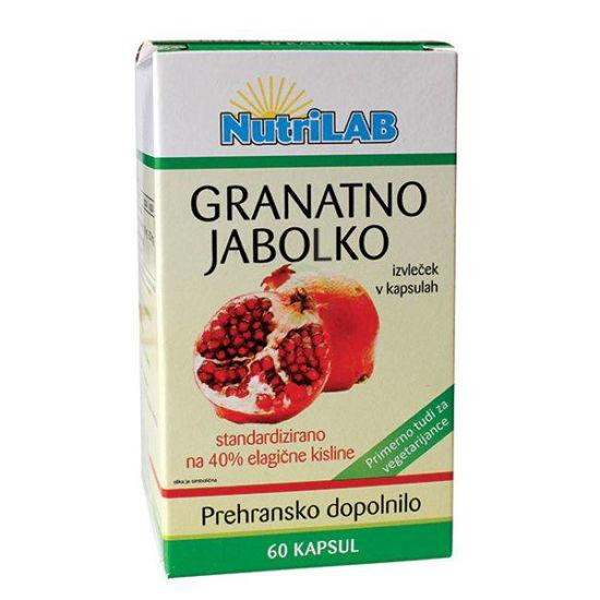Nutrilab granatno jabolko 300 mg, 60 kapsul