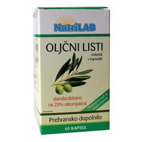 Slika Nutrilab oljčni listi 200 mg, 60 kapsul
