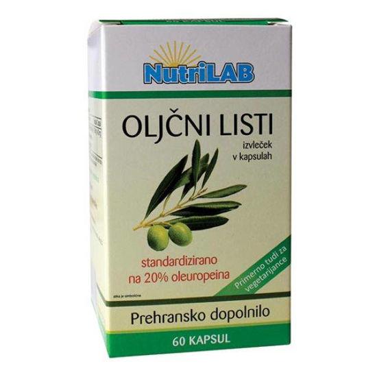 Nutrilab oljčni listi 200 mg, 60 kapsul