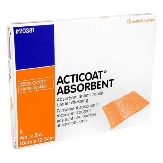 Acticoat Absorbent alginatna sterilna obloga z nanokristalnim srebrom, 2x30 cm, 5 oblog