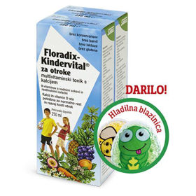 Slika 2x Floradix Kindervital + darilo: spalna maska