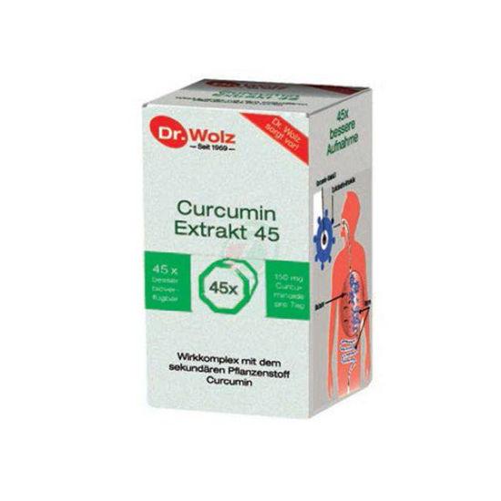Dr. Wolz Curcumin Extrakt 45, 90 kapsul