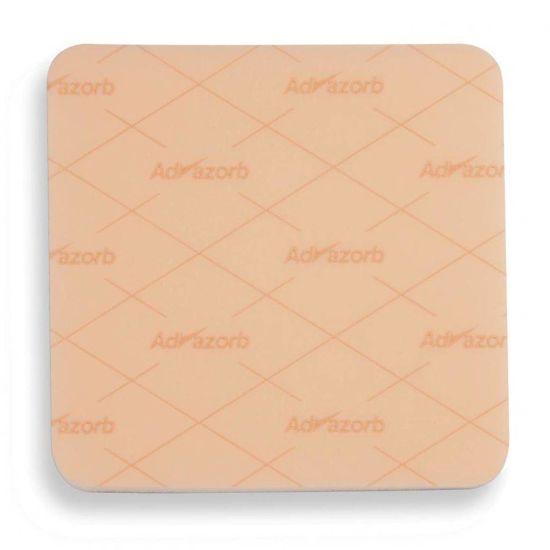 Advazorb Silfix obloga iz hidrofilne pene in silikona 15x15 cm, 10 oblog