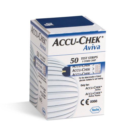 Accu-Check Aviva Nano glucosa testni lističi za merjenje glukoze, 50 kom.