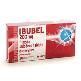 Slika Ibubel 200 mg filmsko obložene tablete, 20 tablet