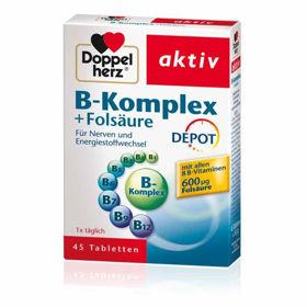 Slika Doppelherz Aktiv B-Kompleks + folna kislina, 45 tablet