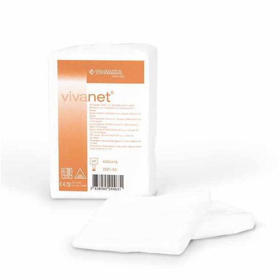 Vivanet komprese (nesterilne) - 7,5x7,5cm 100 kom
