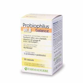 Slika Farmaderbe Probiophilus Balance vitamin B, 30 kapsul