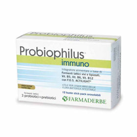 Slika Farmaderbe Probiophilus Immuno, 12 vrečic
