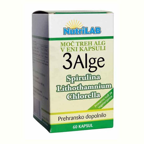 Nutrilab 3 Alge, 60 vegetarijanskih kapsul