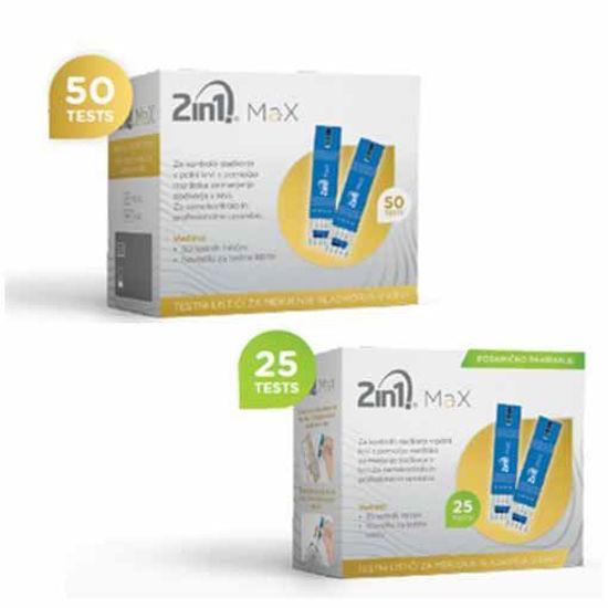 2in1. MaX testni lističi za glukozo
