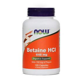 Slika Now Betaine HCl kapsule, 120 kapsul