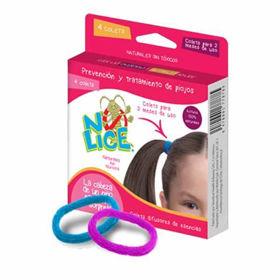 Slika No-Lice gumice za lase z eteričnimi olji, 4 gumice