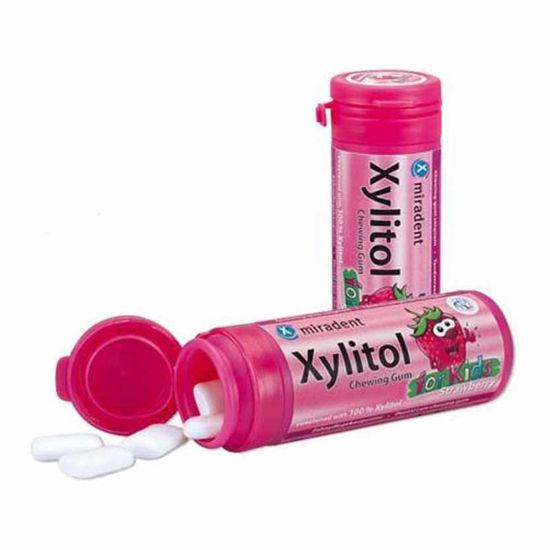 Xylitol Junior varovalni žvečilni gumiji z okusom jagode, 30 gumijev