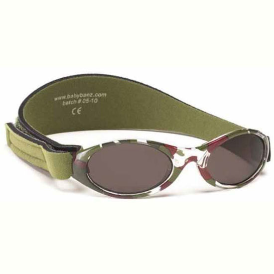 Baby Banz Adventure camo zelena otroška sončna očala od 2 do 5 let
