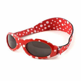 Slika Baby Banz Adventure rdeče pikčasta otroška sončna očala do 2 let