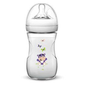 Slika Avent Natural otroška steklenička z motivom, 260 mL