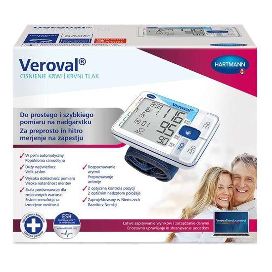 Veroval zapestni merilnik krvnega tlaka, 1 set