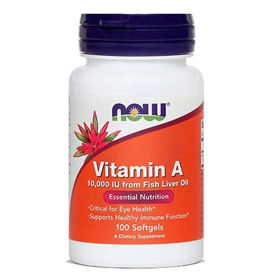 Slika Now vitamin A, 100 kapsul