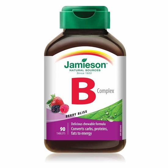 Jamieson B kompleks bomboni z okusom naravnih gozdnih sadežev, 90 bombonov