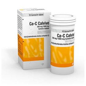 Slika Ca-C Calvive šumeče tablete, 10 tablet