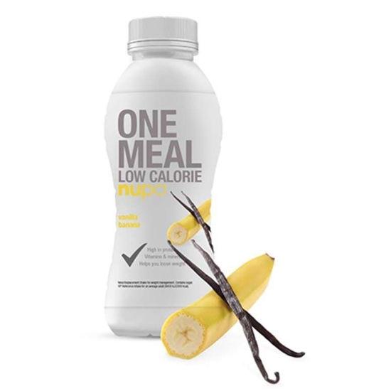 Nupo nadomestilo za posamezni obrok hrane v tetrapaku z okusom vanilije in banane, 330 mL