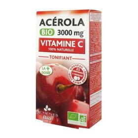 Slika Acerola Bio 3000 mg, 21 žvečljivih tablet