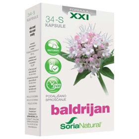 Slika Soria Natural Baldrijan XXI - podaljšano sproščanje, 30 kapsul