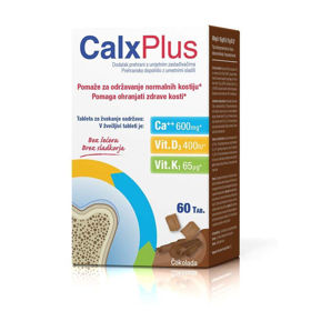 Slika CalxPlus dopolnilo, 60 žvečljivih tablet
