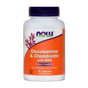 Slika Now Glukozamin & Hondrotoin z MSM kapsule, 90 kapsul