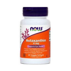 Slika Now astaksantin 4 mg, 60 softgel kapsul