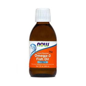 Slika Now Omega-3 ribje olje z okusom limone, 200 mL