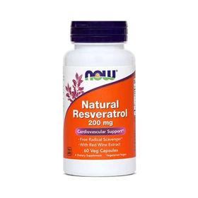 Slika Now naravni resveratrol 200 mg, 60 veganskih kapsul