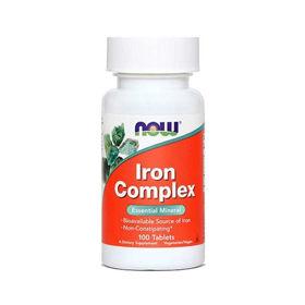 Slika Now železo kompleks, 100 tablet