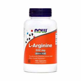 Slika Now L-Arginin 500 mg, 100 kapsul