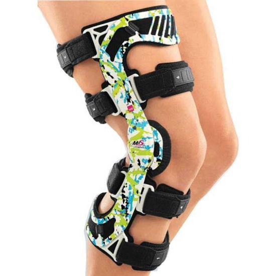 M.4s funkcijska čvrsta opornica z zglobom physioglide za omejitev fleksije in ekstenzije kolena