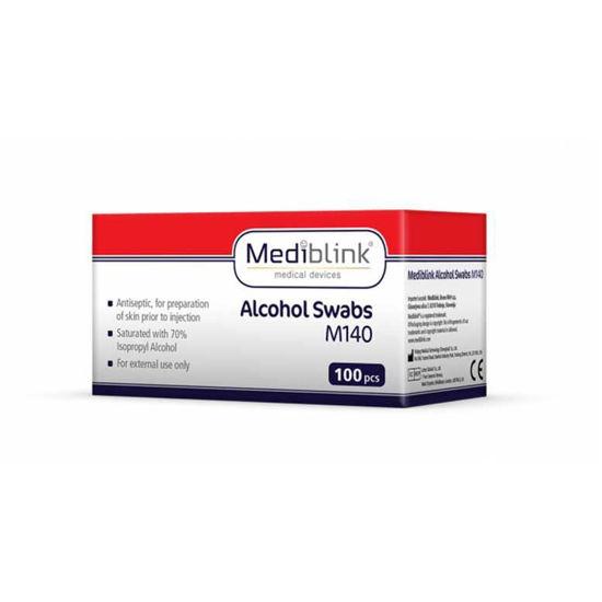 Mediblink M140 alkoholni robčki, 100 robčkov