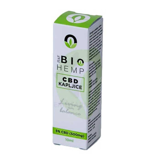 BioHemp CBD 5 % konopljine kapljice, 10 mL